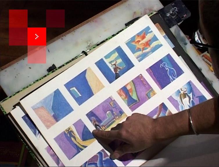Lorenzo Recio présente le story-board de son film d'animation Le Bal du Minotaure